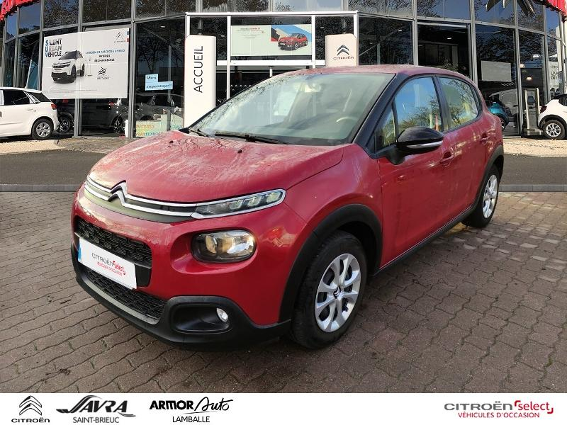 Citroen C3 BlueHDi 100ch Feel S&S E6.d-TEMP Diesel Rouge Rubi Occasion à vendre